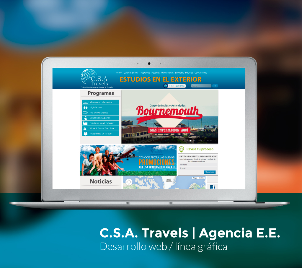 CSA Travels Website
